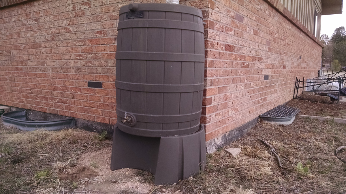Rain barrels like this one are now legal to use in Colorado.