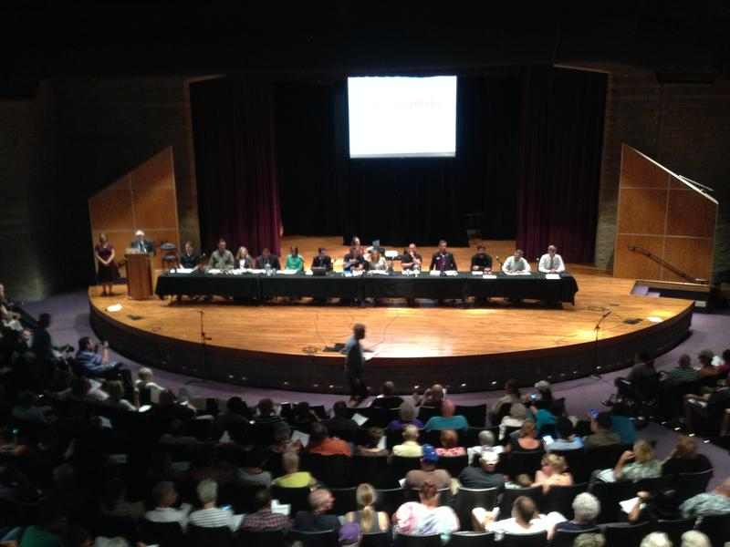 Officials at a public meeting in July explained the EPA's PFC health advisory.
