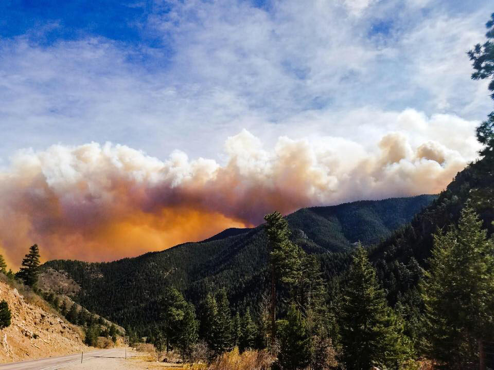 The Junkins Fire seen from Highway 96, 10/17/16