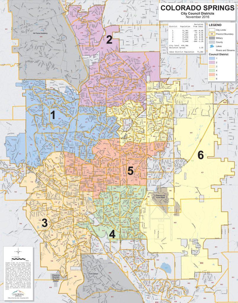 Colorado Springs City Council districts
