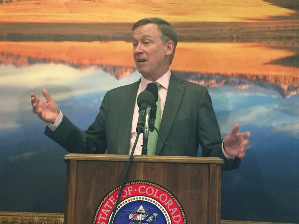 Governor John Hickenlooper talks about his budget priorities. The Senate passed a change he supported: using part of the marijuana tax money for a housing initiative for the chronically homeless.