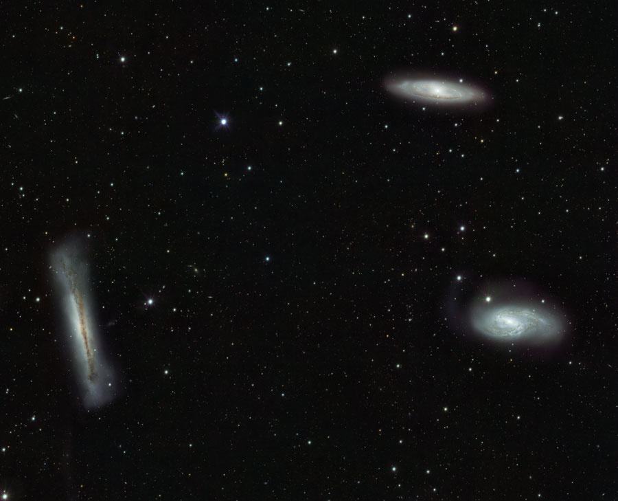Three galaxies in one field of view!
