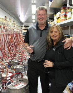 Owners of The Brass Tap-COS, Mike and Darlene Warmouth.