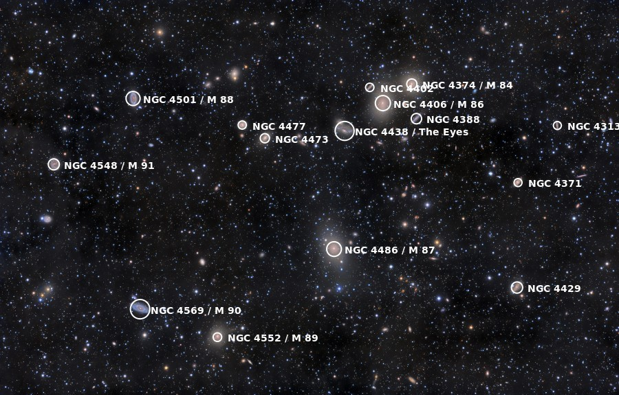 Well over a thousand galaxies are known members of the Virgo Super Cluster of Galaxies.