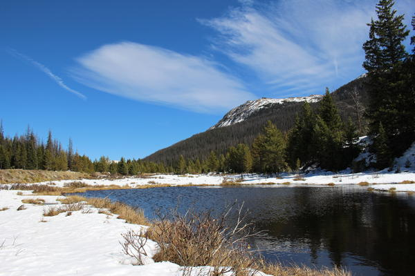 The Colorado River gets its start near Rocky Mountain National Park's northern boundary at La Poudre Pass.