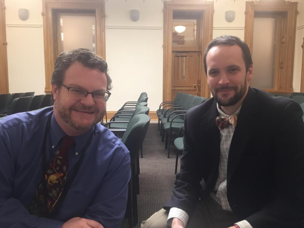 Ed Sealover of the Denver Business Journal and John Frank of the Denver Post.
