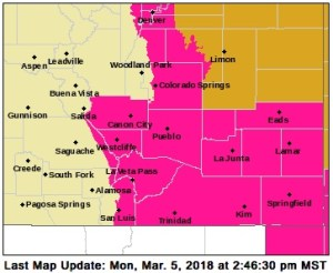 Monday is the 5th day for a Red Flag Warning in Southern Colorado
