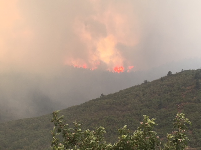 The Spring Fire near Fort Garland in southern Colorado