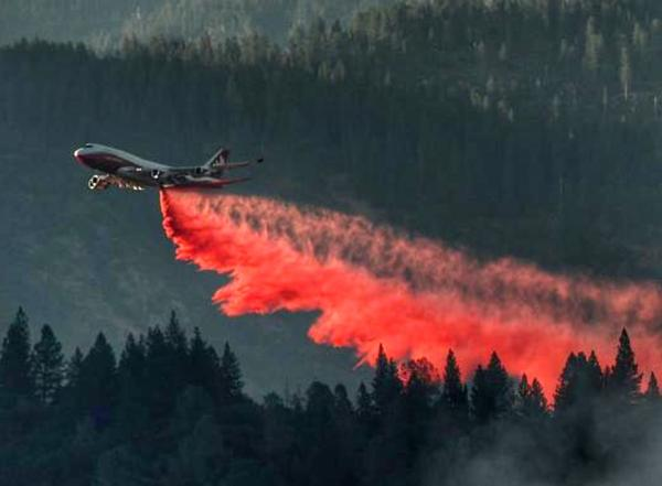 """A Boeing 747 called the """"Spirit of John Muir"""" is currently deployed to fight fires in California."""