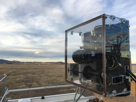 A special laser called a 'dual frequency comb spectrometer' can register when it encounters methane, the main ingredient in natural gas, versus other gases normally present in the air.