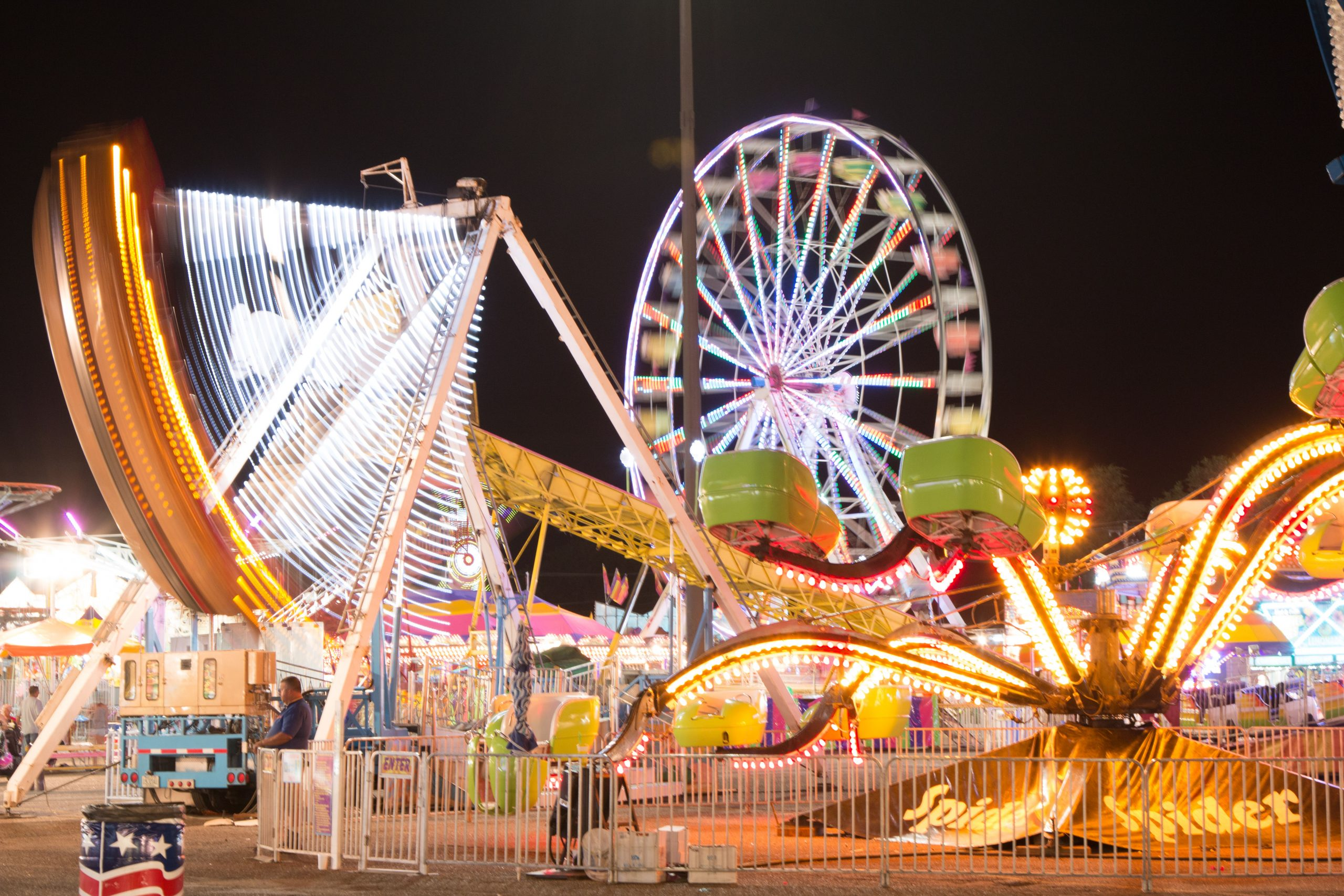 The carnival at the Colorado State Fair in Pueblo.