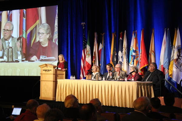 A panel at the Colorado River Water Users Association annual conference in Las Vegas discuss progress in the creation of Drought Contingency Plans on Dec. 13, 2018.