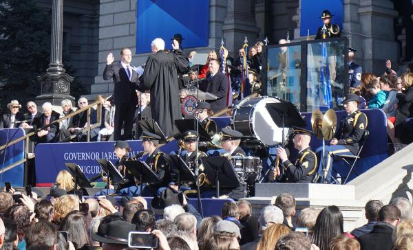 Jared Polis takes the oath of office Tuesday morning. He is Colorado's 43rd Governor.