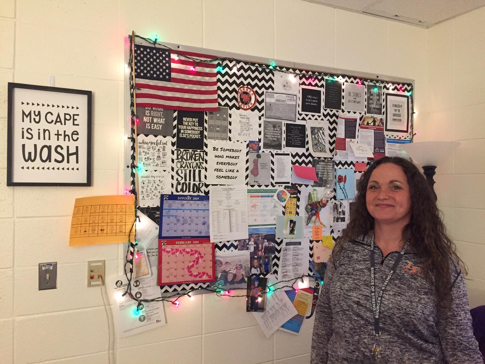 Debbie Sell is a high school social worker in El Paso County, Colorado