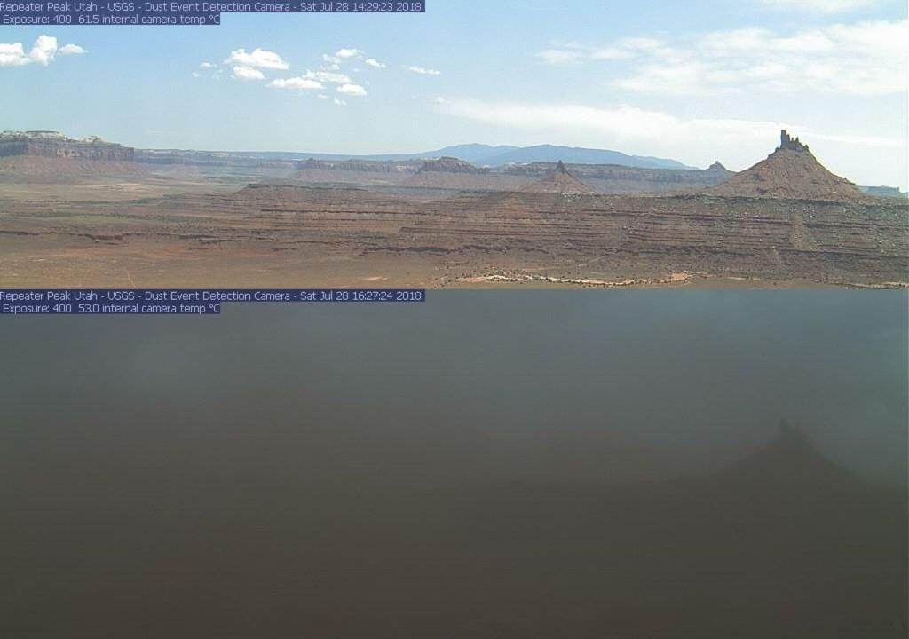 A dust storm in Utah