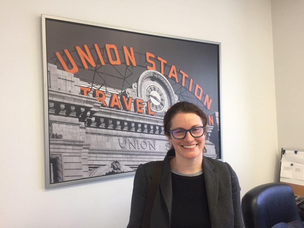 Immigration attorney, Karen McCarthy, in her office