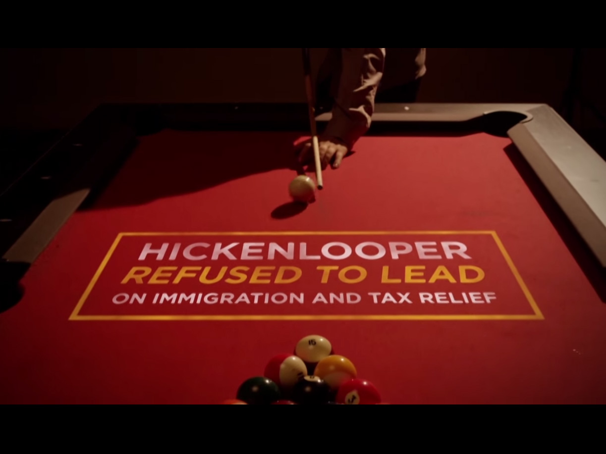<p>The Republican Governor's Association new ad plays off a recent game of pool between Gov. John Hickenlooper and President Barack Obama.</p>