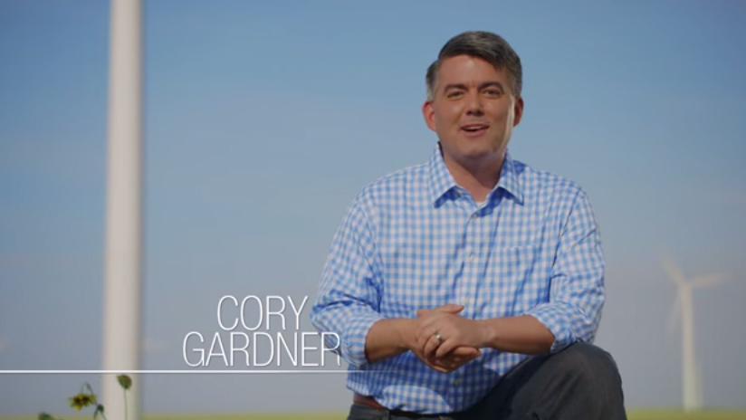 <p>A screenshot from a Cory Gardner advertisement that touts his environmental credentials.</p>