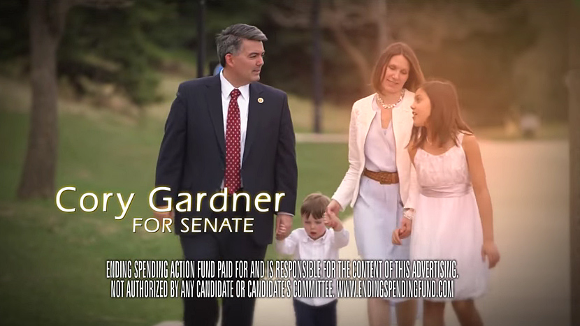<p>Ending Spending Action, a Super PAC that supports Republican Senate candidate Cory Gardner, will air ads to that effect during the Broncos game this Sunday. </p>