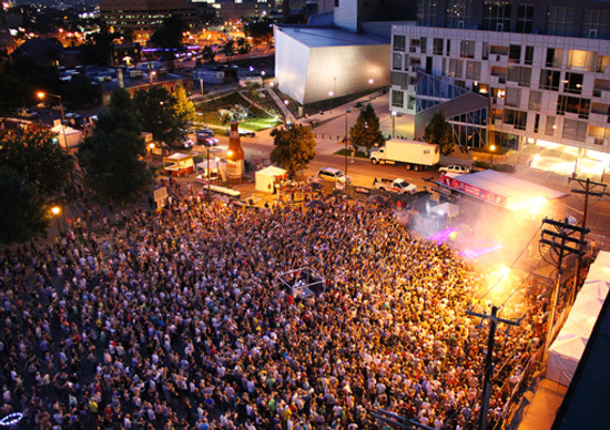<p>A previousWestword Music Showcase in downtown Denver.</p>