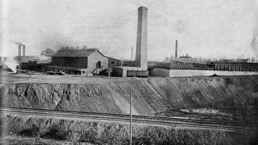 <p>The Old Colorado Smelter in southeast Pueblo operated for many years until it closed in 1908. </p>