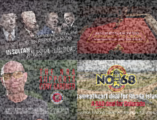 <p>Screenshots from a variety of ads from this political season.</p>