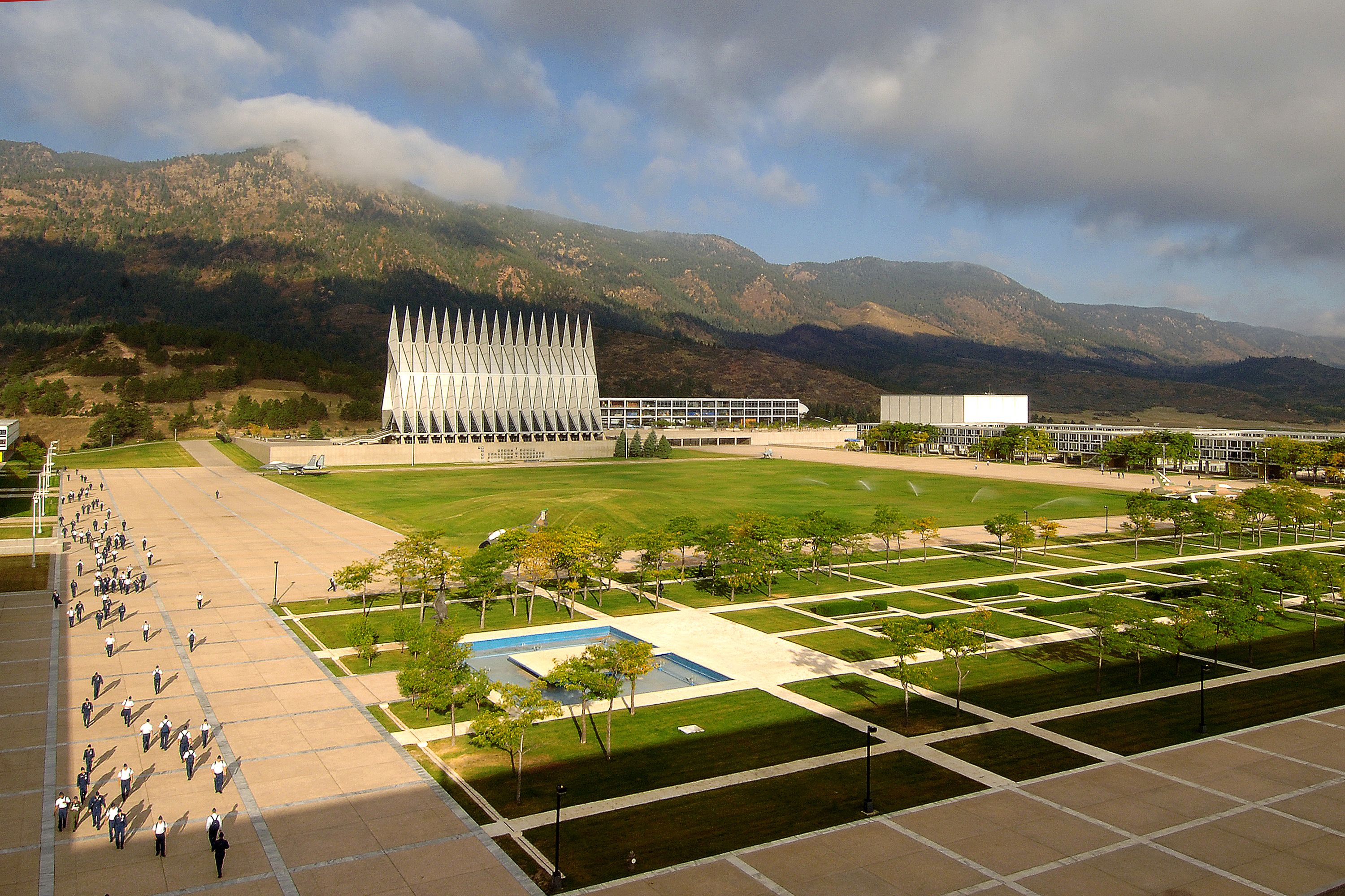 <p>The United States Air Force Academy near Colorado Springs, Colo.</p>