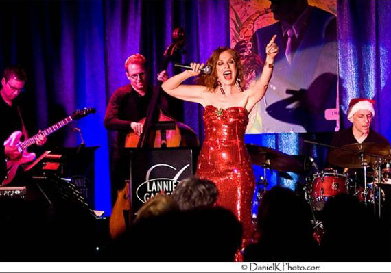 <p>Lannie Garrett performs with her big band show, AnySwing Goes!</p>