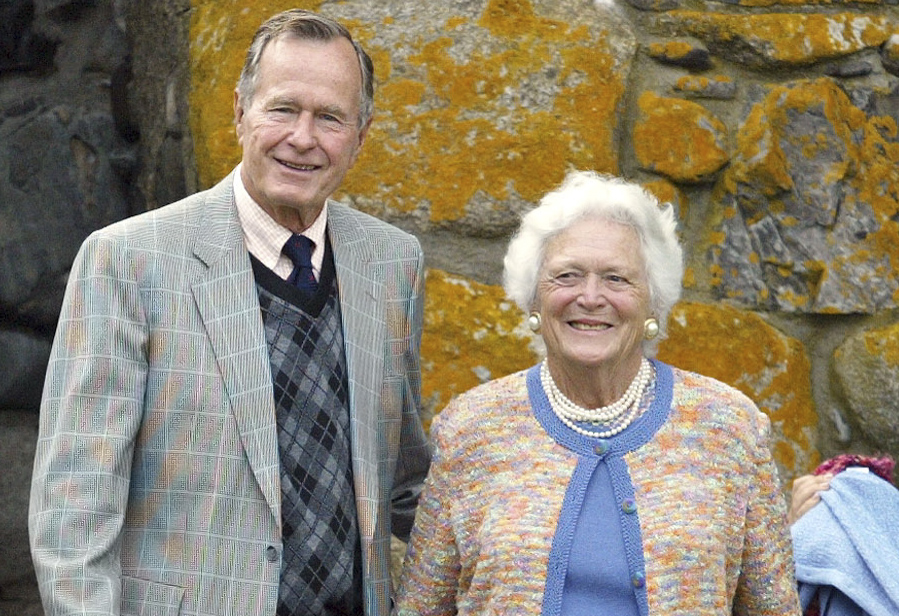 <p>Former President George H.W. Bush, and Barbara Bush attended the wedding of Walker Stapleton and his wife Jenna in 2002.</p>