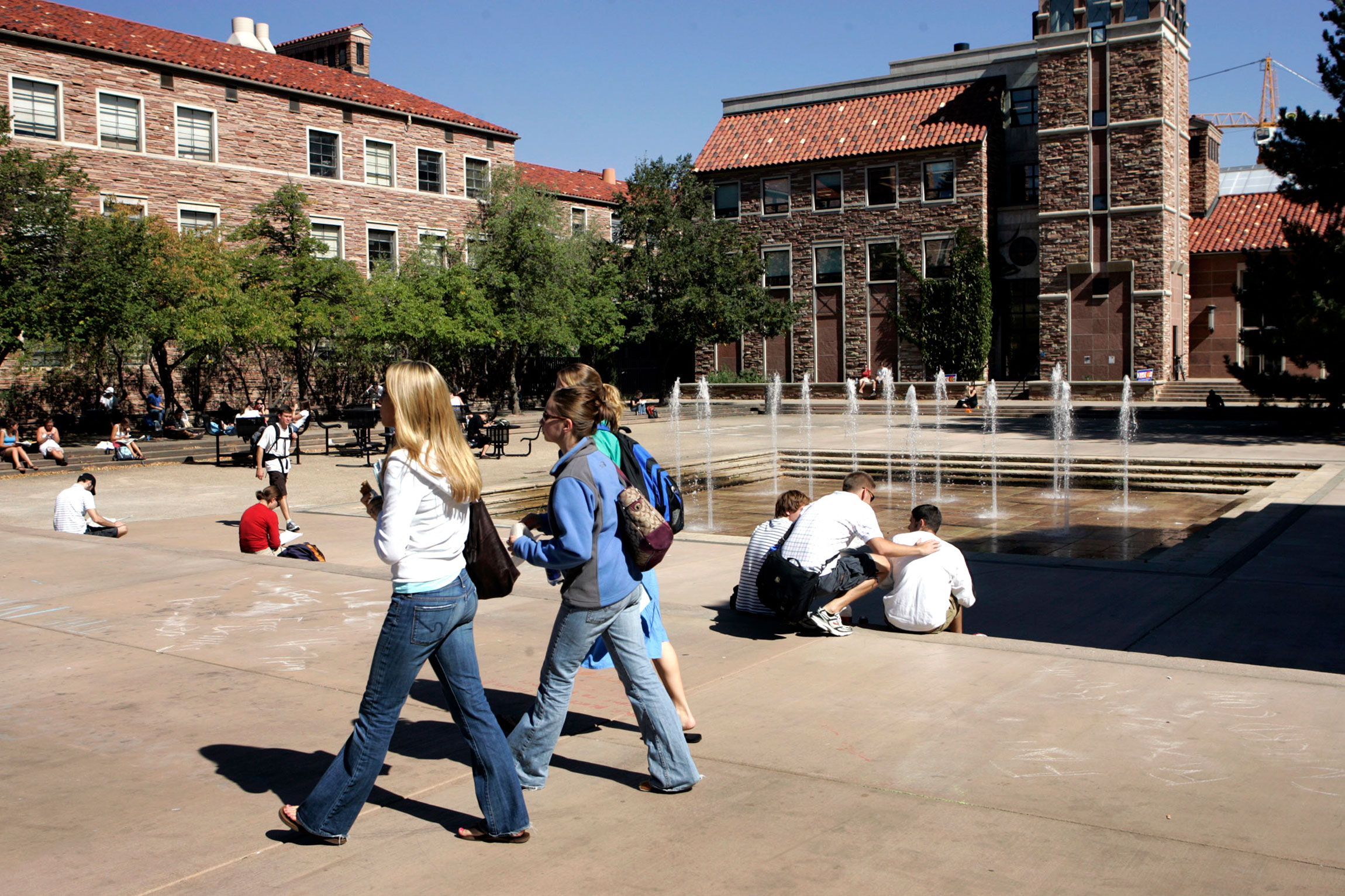 <p>Students in the commons at the University of Colorado in Boulder, Colo., Oct, 2005. Lagging state support for higher ed has gone all but unnoticed at the state Capitol, where K-12 schools dominate the political discussion.</p>