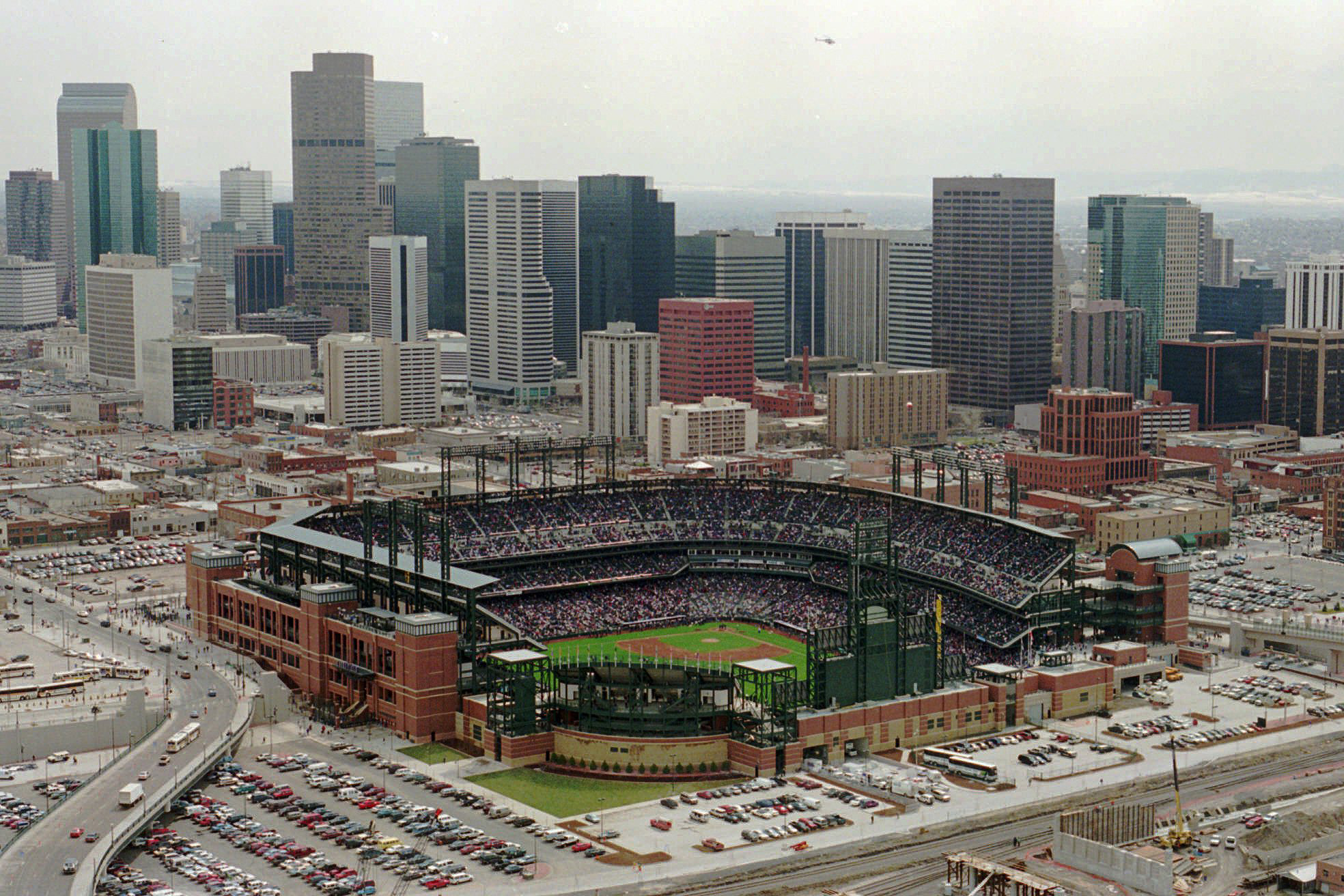 <p>The opening of Coors Field in Denver, in March 1995.</p>