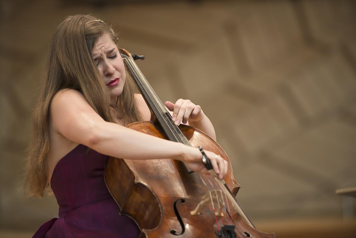 <p>Cellist Alisa Weilerstein at the 2013 Aspen Music Festival</p>