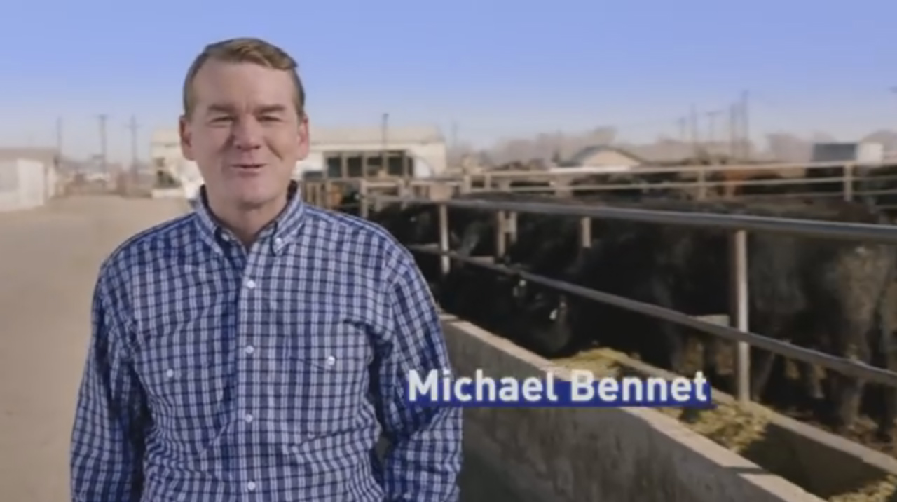 "<p>Sen. Michael Bennet appears in <a href=""https://www.youtube.com/watch?v=2bfT5wXIhjU"" target=""_blank"" rel=""noopener noreferrer"">an April 2016 campaign ad.</a></p>"
