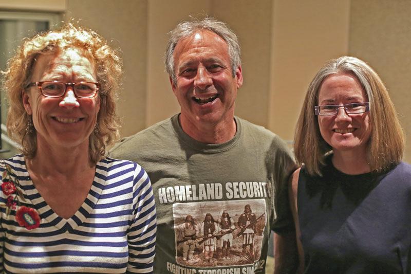 <p>Colorado authors Lisa Jones,Peter HellerandHelen Thorpe.</p>