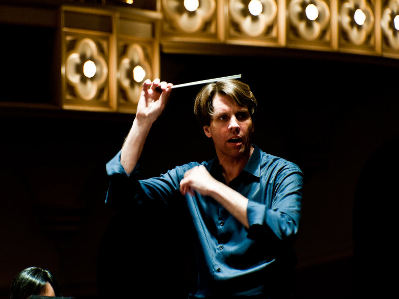 <p>Michael Butterman, music director of the Boulder Philharmonic.</p>