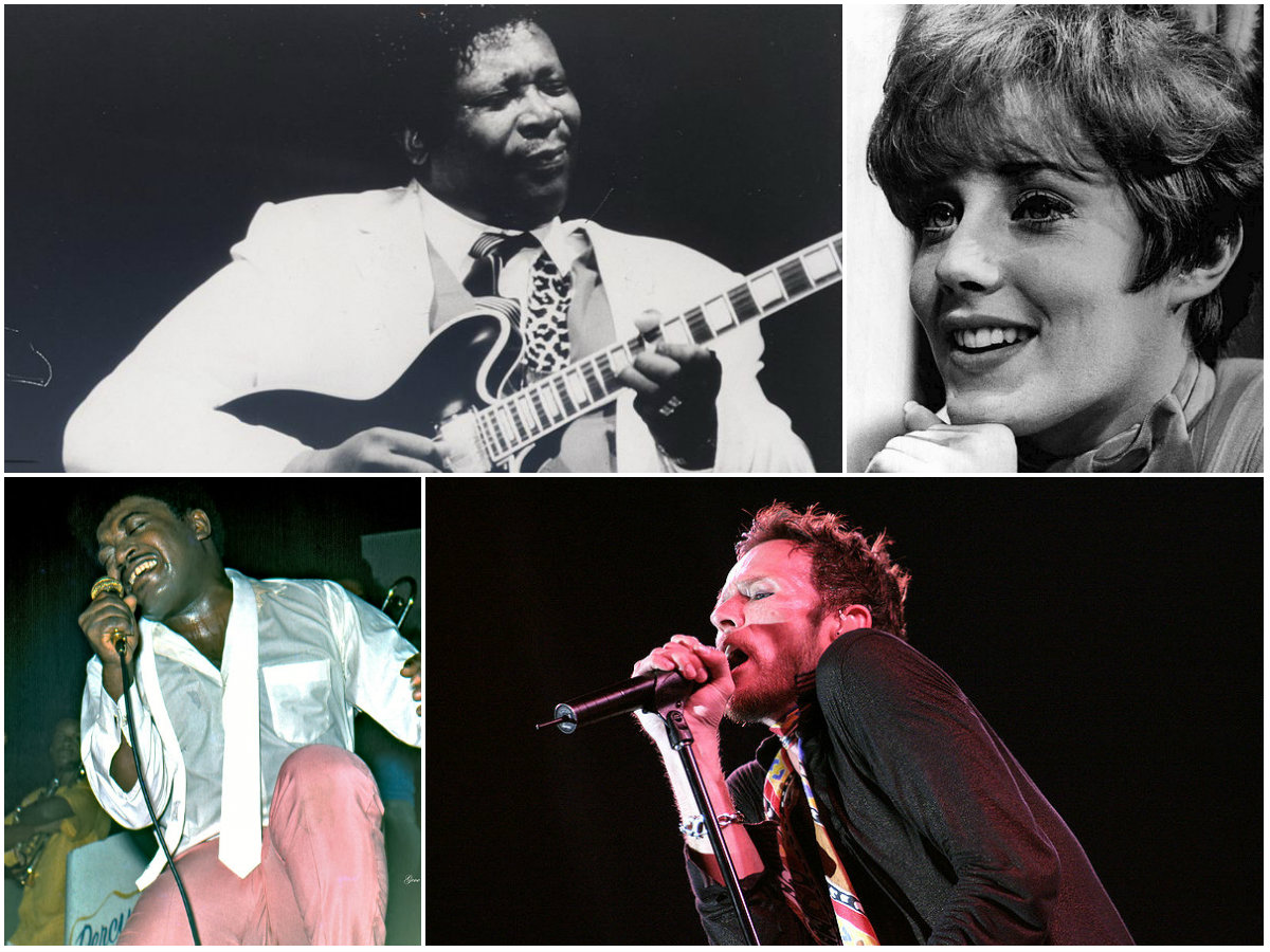 """<p>(clockwise from top left): B.B. King, Leslie Gore, Scott Weiland and Percy Sledge are all remembered on """"Retrofit: Bye Bye 2015""""</p>"""