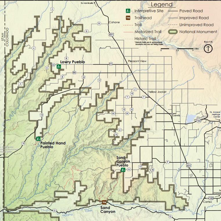 <p>Canyons of the Ancients is located in Southwest Colorado, west of Cortez.</p>