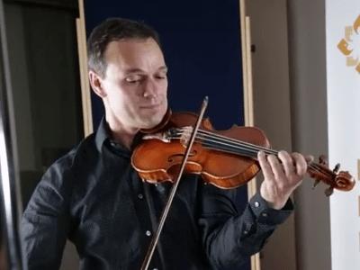 <p>Violinist Charles Wetherbee</p>