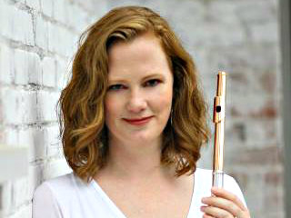 <p>Flutist Christina Jennings.</p>