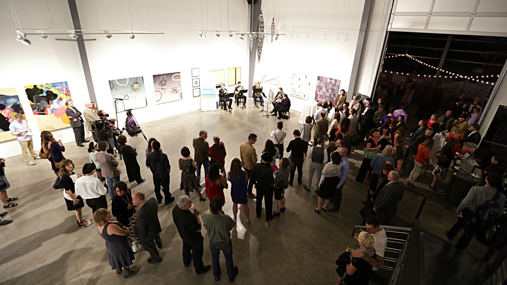 <p>Friday night's program featured serious classical music inside and serious marijuana smoking outside on the gallery's enclosed patio.</p>