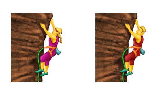 <p>The new climbing emojis that will part of the 2017 update later this year. </p>