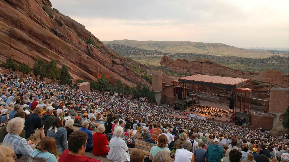 <p>The Colorado Symphony performs at the Red Rocks Amphitheatre in Morrison.</p>