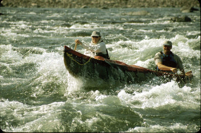 <p>Gary and Jane Ferguson on the Hood River.</p>