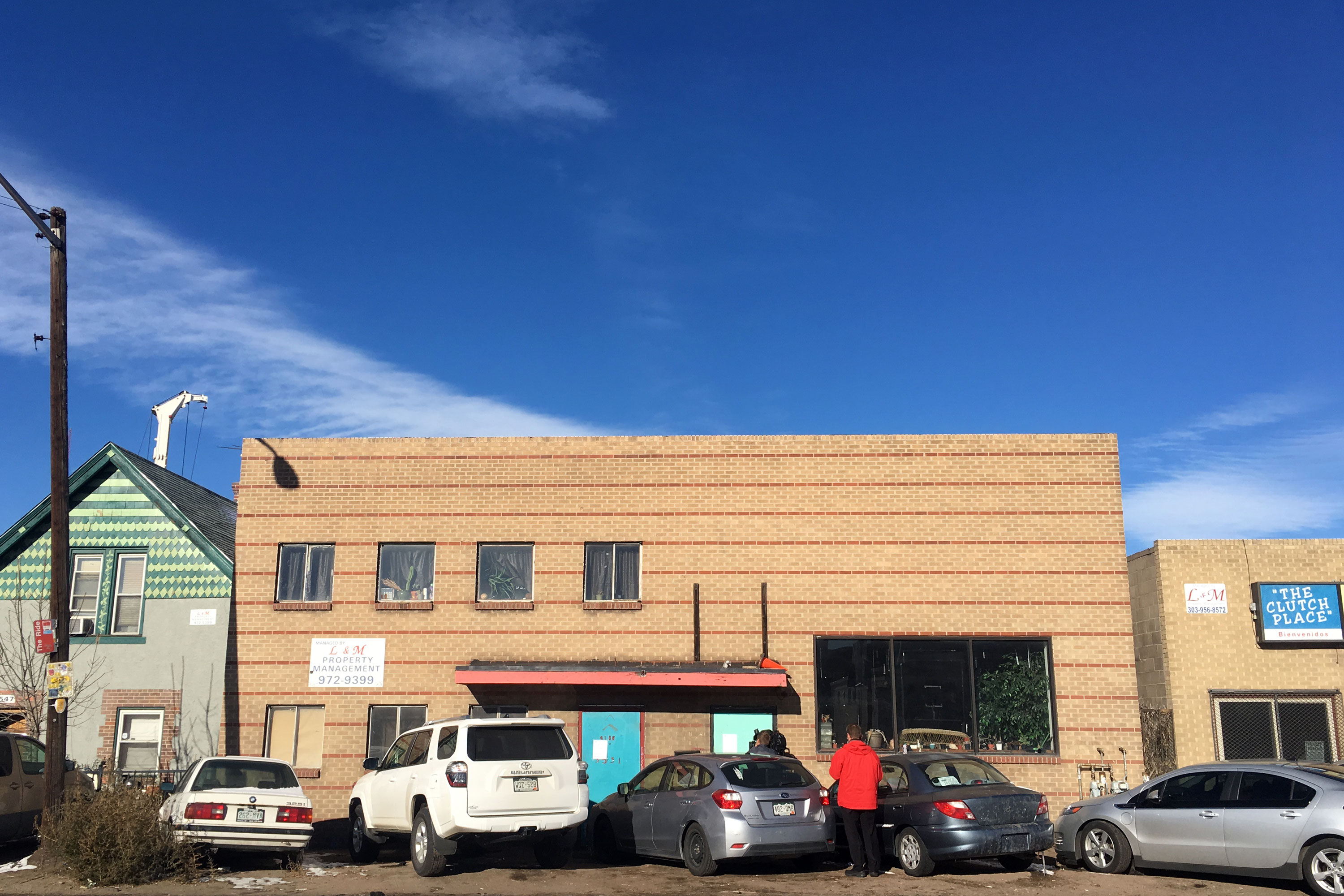 <p>The front of the warehouse in Denver's RiNo district where artists gathered in adjacent spaces known as Rhinoceropolis and Glob. The building, located at 3551 Brighton Blvd., was closed by Denver fire inspectors for violations Dec. 8, 2016. Eleven people living in the building were told to vacate it.</p>