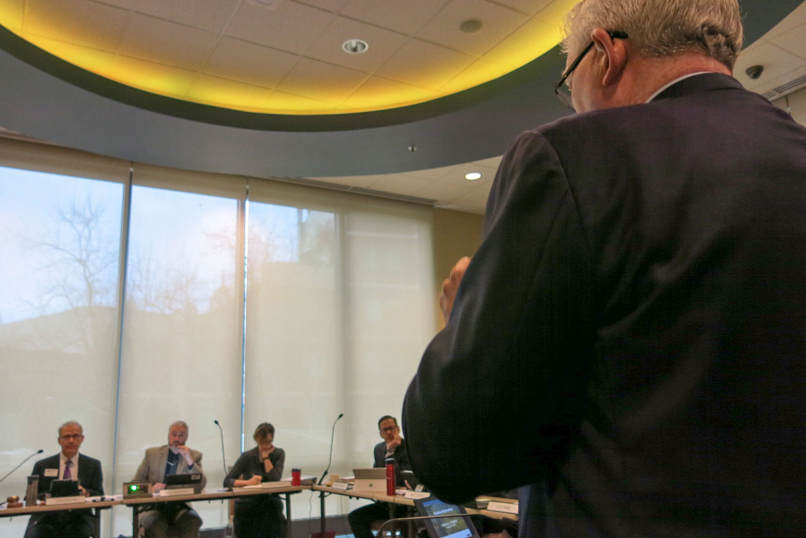 <p>Democratic State Sen. Matt Jones addresses the Colorado Oil and Gas Conservation Commission, Jan 8, 2018. The proposed pipeline rules represent the most comprehensive revamp to date, spurred by a fatal home explosion in Firestone last year.</p>