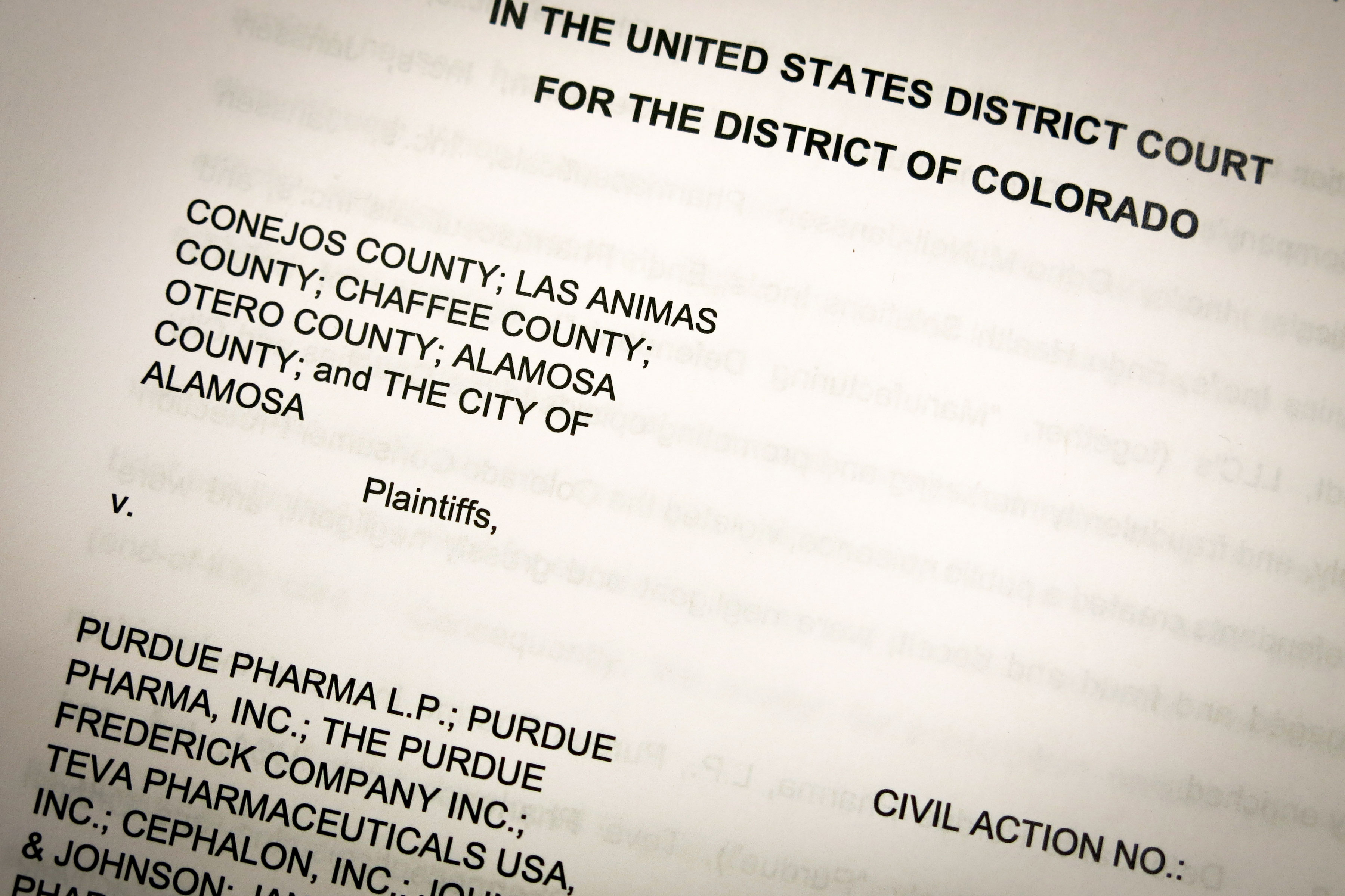 <p>Several southern Colorado counties have already filed suit against pharmaceutical companies as a response to the state's opioid crisis.</p>