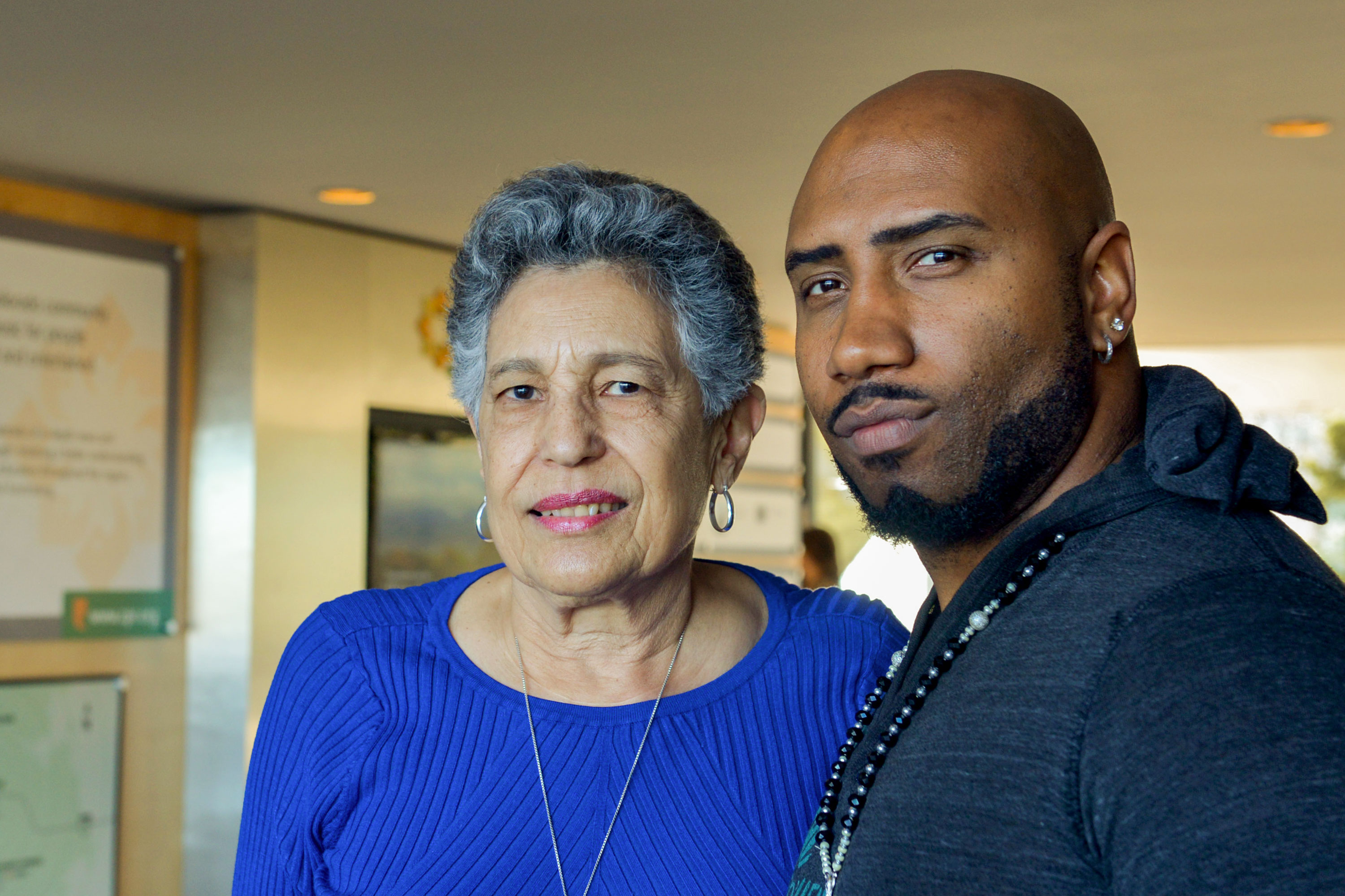 <p>Carlotta Walls LaNier and Theo Wilson at the CPR studios in Centennial, Colo.</p>
