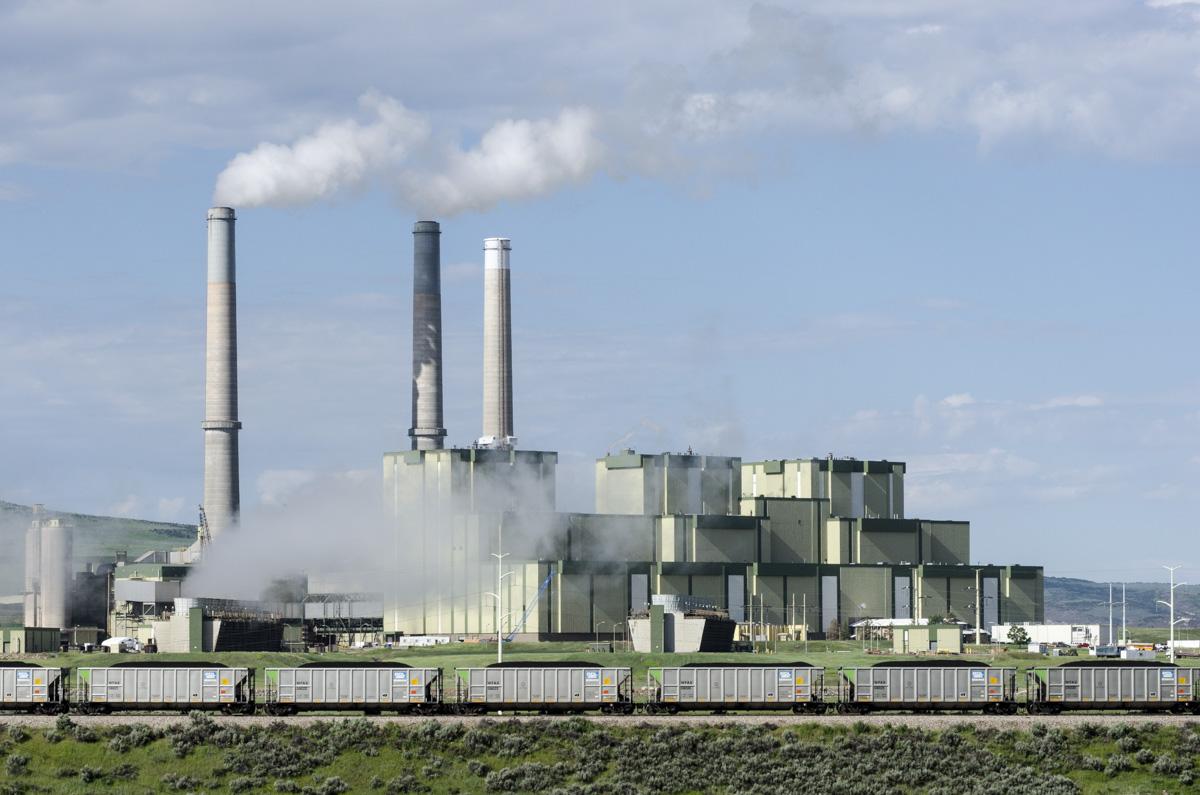 <p>A coal train enters the Craig Station power plant near Craig, Colo. on Tuesday, June 16, 2015.</p>