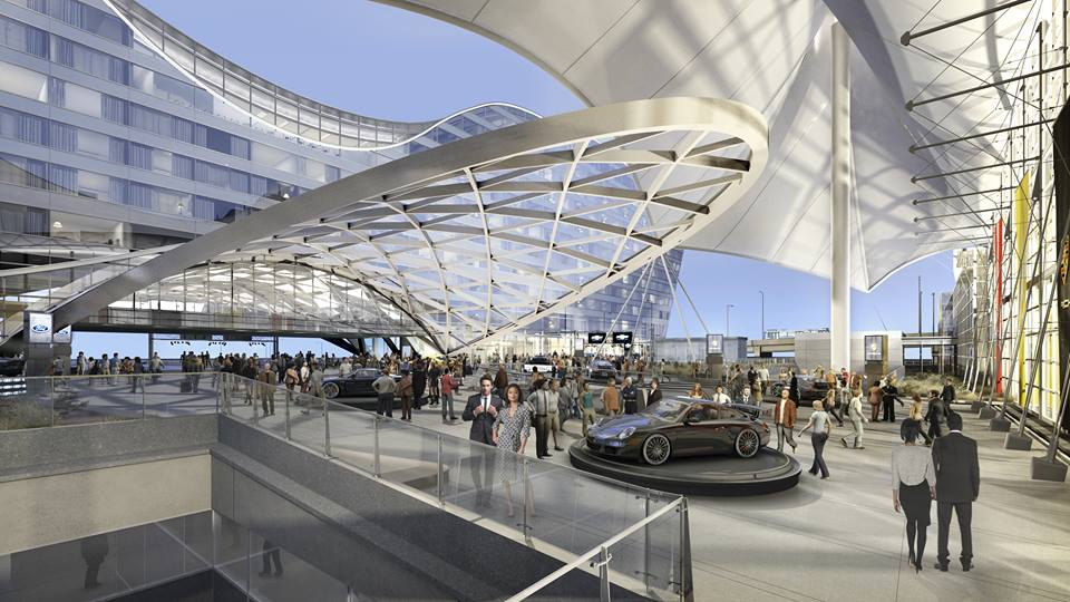 <p>An artist's rendering of the new plaza at Denver International Airport.</p>