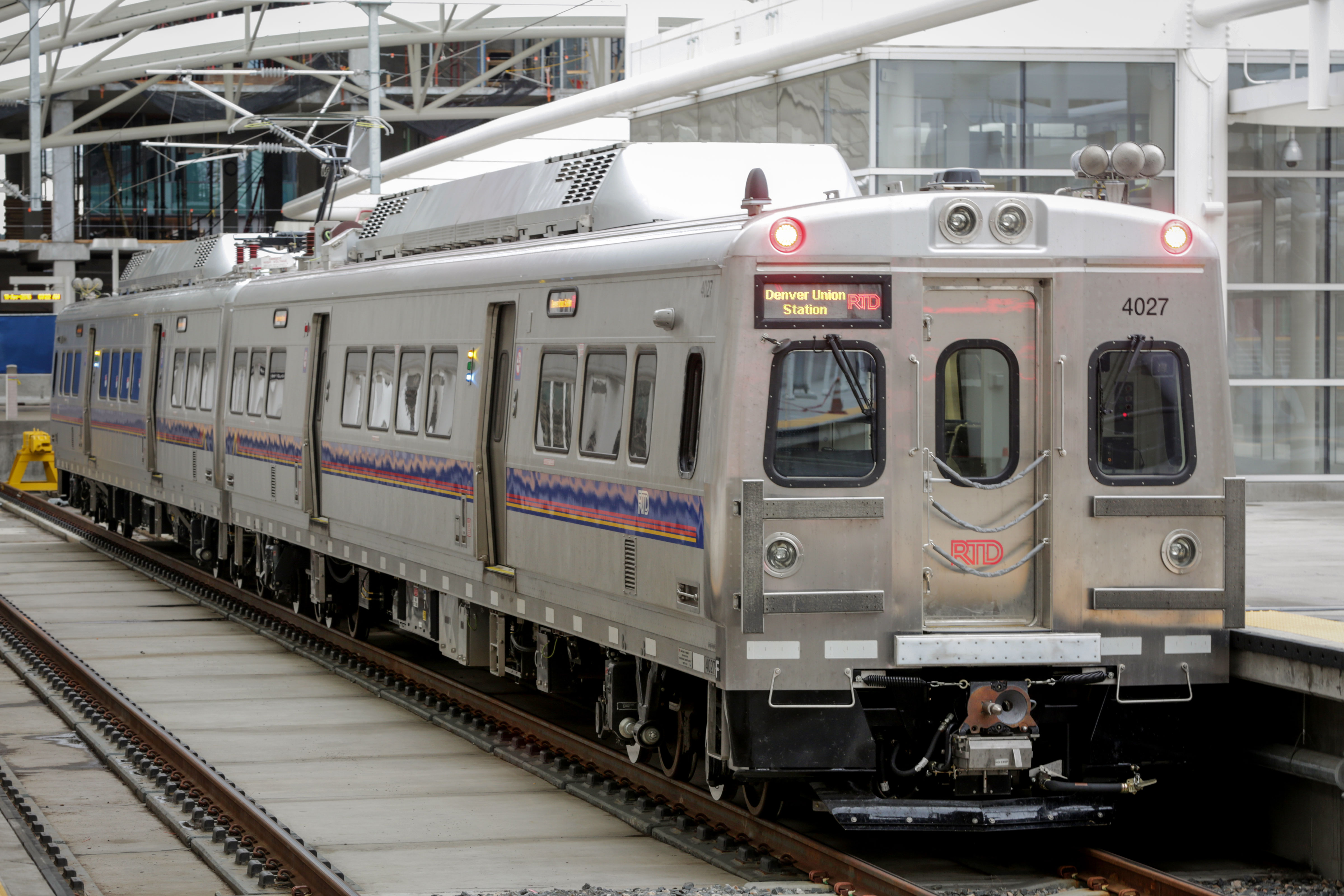 <p>An RTDcommuter railtrain at Union Station, Denver, April 11, 2016.</p>